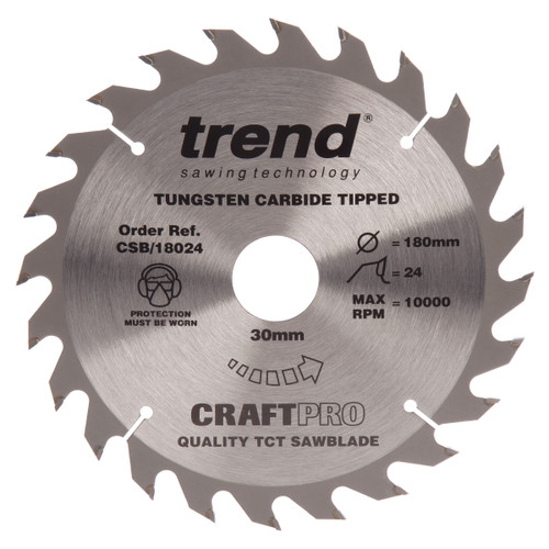 Trend CSB/18430A CraftPro Saw Blade Combination 184mm x 30T - 2