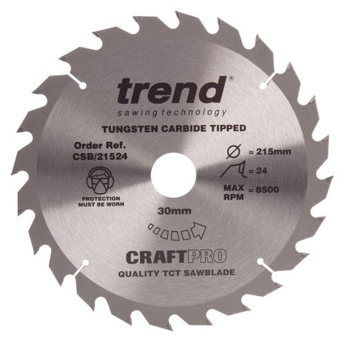 Trend CSB/21524 CraftPro Saw Blade General Purpose 215mm x 24T - 2