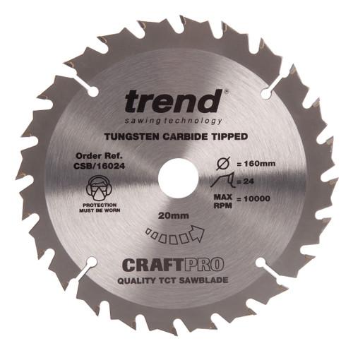 Trend CSB/16024 CraftPro Saw Blade Combination 160mm x 24T - 2