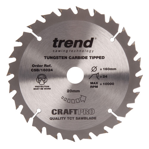 Trend CSB/16024 CraftPro Saw Blade Combination 160mm x 24T - 2