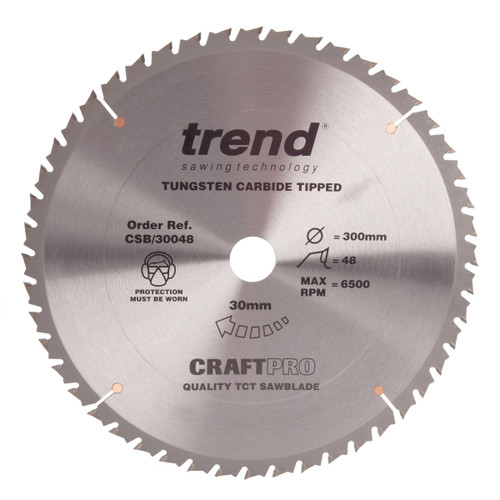Trend CSB/30048 CraftPro Saw Blade Combination 300mm x 48T - 2