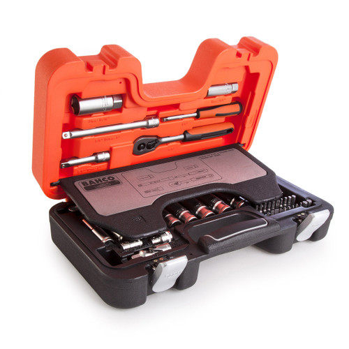 Buy Bahco S330L Metric Socket and Mechanical Set 1/4 and 3/8in Dynamic Drive (53 Piece) at Toolstop