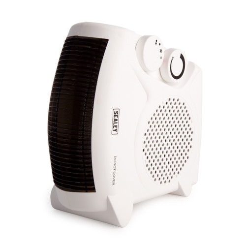 Sealey FH2010 2000W Fan Heater With 2 Heat Settings & Thermostat - 2