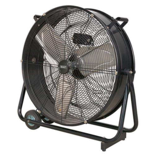 "Sealey HVD24 24"" Industrial High Velocity Drum Fan 240V"