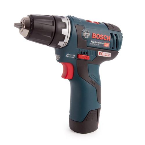Bosch GSR 12V-20 Professional Heavy Duty Drill Driver (2 x 2.0Ah Batteries) - 2