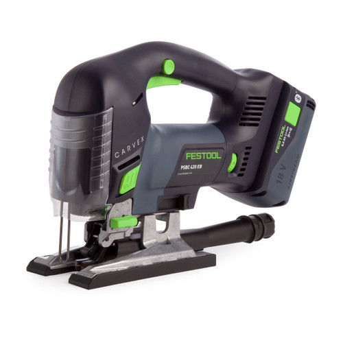 Festool 575680 18V Pendulum Jigsaw PSBC 420 Li 5,2 EBI-Plus GB CARVEX (1 x 5.2Ah Battery)