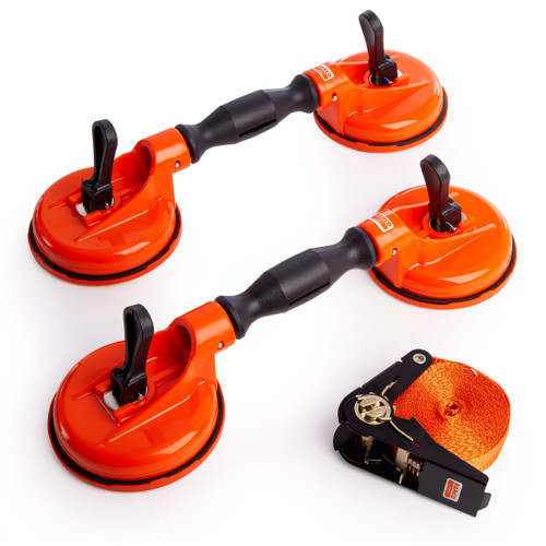 Bahco BBS150 2 Double Suction Cups and Belt - 2
