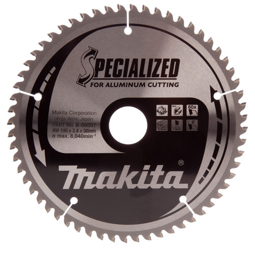 Makita B-09597 Specialized Circular Saw Blade 190mm x 30mm x 60T - 1