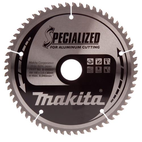 Makita B-09597 Specialized Circular Saw Blade 190mm x 30mm x 60T - 1