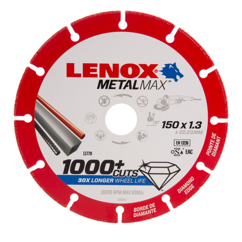 Lenox 2030867 MetalMax Diamond Cut Off Wheel 150mm x 1.3mm x 22.23mm - 1