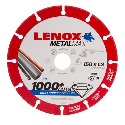 Lenox 2030867 MetalMax Diamond Cut Off Wheel 150mm x 1.3mm x 22.23mm - 1