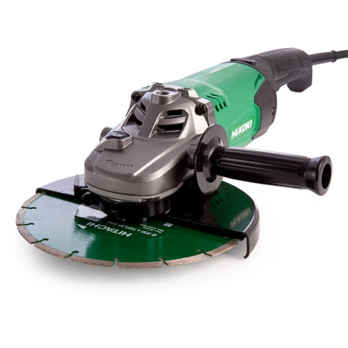 HiKOKI G23ST Grinder with Diamond Blade and Carry Case 230mm / 9 Inch 110V - 3