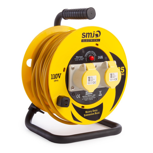 SMJ CR2516 Heavy Duty Cable Reel Thermal Cut Out 25 Metres 110V - 2