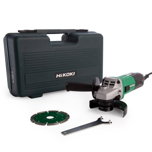Buy HiKOKI G12STX 115mm Angle Grinder 110V with Diamond Blade at Toolstop