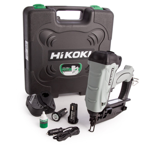 HiKOKI NT 65GS 3.6V Gas Finish Nailer 65mm / 2. 1/2 Inch (2 x 1.5Ah Batteries) - 1