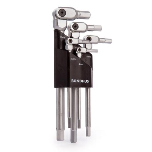 Bondhus 00028 Pivot Head Hex-Pro Set 4-10mm (5 Piece) - 3