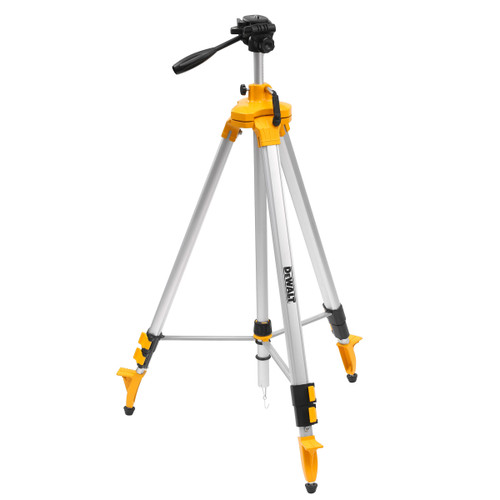 "Dewalt DE0733 1/4"" Adjustable Head Laser Tripod (0.97m-2.48m) - 1"