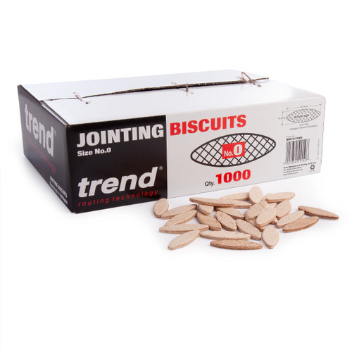Trend BSC/0/1000 Size 0 Jointing Biscuits (Pack Of 1000) - 2