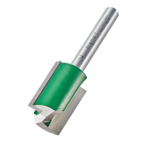 """Trend C028AX1/4TC Two Flute Straight Router Cutter 18mm x 1/4"""" Shank - 1"""