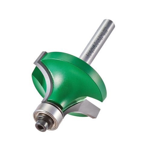 """Trend C079X1/4TC Guided Ovolo & Rounding Over Router Cutter 12.7mm x 1/4"""" Shank - 1"""