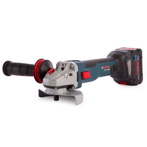 Bosch GWS 18V-10 SC Professional Heavy Duty Angle Grinder 125mm (1 x 8.0Ah ProCore & 1 x 6.0Ah Battery) with GCY 30-4 Bluetooth Module - 3