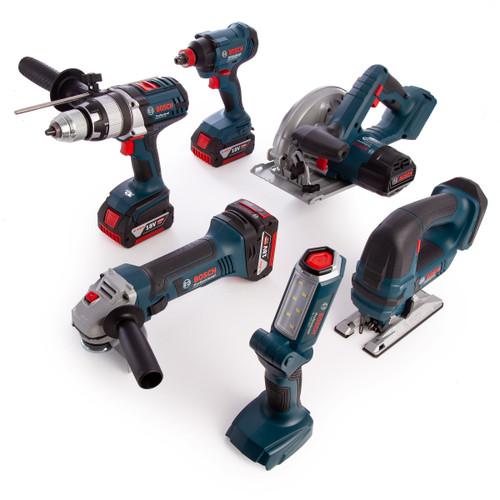 Bosch GSB18VE2LI (0615990L1M) 18V Professional 6 Piece Kit (3 x 4.0Ah Batteries) - 8