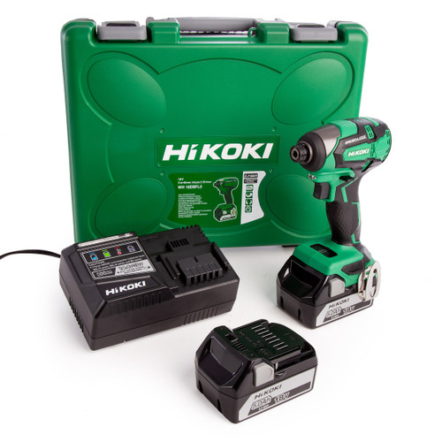 HiKOKI WH 18DBFL2 18V Brushless Impact Driver (2 x 5.0Ah Batteries) - 3