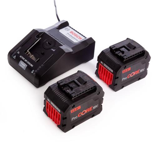Bosch 1600A016GZ Professional - 2 x ProCORE18V 12.0Ah Batteries + GAL 18V-160 C Charger - 3
