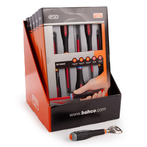 Bahco BE-9882S 5 Piece Screwdriver Set Merchandiser With Free Bottle Opener - 3