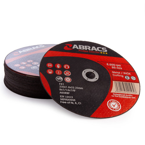 Abracs PFET23018FI Proflex Extra Thin Cutting Discs 230 x 1.8 x 22mm (Pack Of 25) - 1