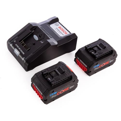 Bosch 1600A016GR  Professional - 2 x ProCORE18V 8.0Ah Batteries + GAL 18V-160 C Charger - 3
