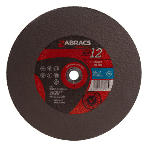 Abracs PF3003020FM Proflex Flat Metal Cutting Discs 300 x 3.5 x 20mm (Pack Of 25) - 1