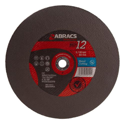 Abracs PF3003020FM Proflex Flat Metal Cutting Discs 300 x 3.5 x 20mm (Pack Of 25)