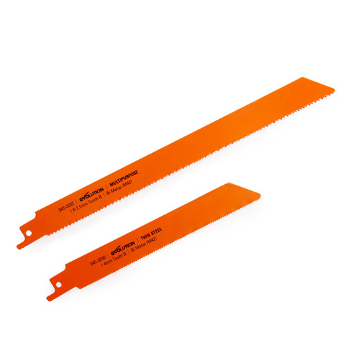 Evolution RAGE8 045-0255 Multi Purpose & Steel Blade Set (Pack Of 2)