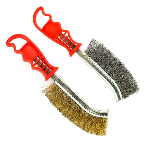 Tried + Tested TT111 Wire Brush Set Brass and Steel - 2 Piece - 1