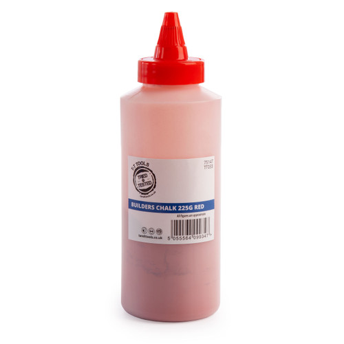 Buy Tried + Tested TT033 Red Builders Chalk 225G at Toolstop