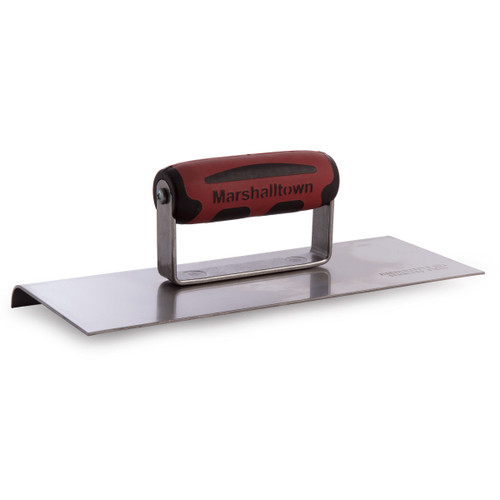 """Marshalltown M192SSD Stainless Steel Edging Trowel with Durasoft Handle 10 x 4"""" - 1"""