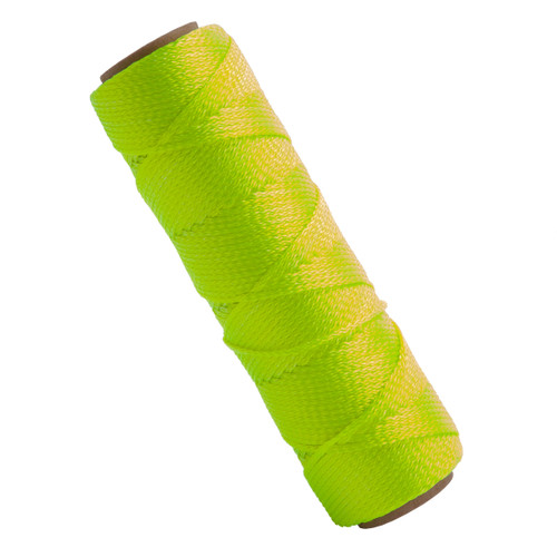 Marshalltown M632 Braided Nylon Masons Line Fluorescent Yellow 250ft - 1