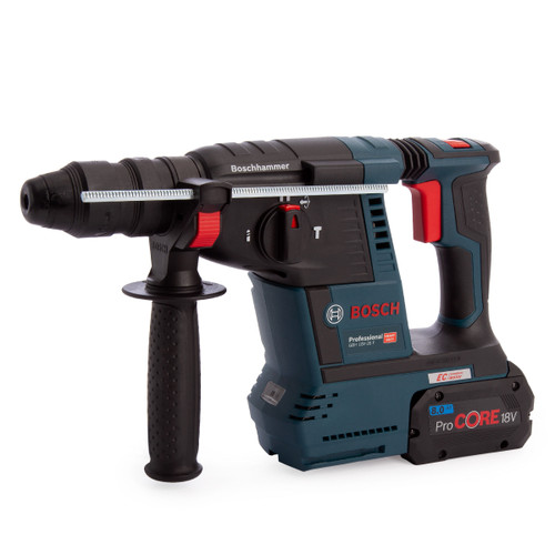 Bosch GBH 18V-26 F Professional SDS Plus Rotary Hammer Drill (1 x 6.0Ah CoolPack & 1 x 8.0Ah ProCORE Batteries) - 6