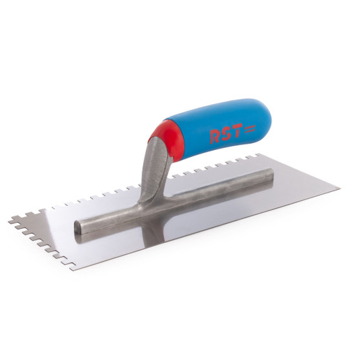 Buy RST RTR8002 Notched Trowel With Soft Touch Handle 11 x 4 1/2in 6mm Notch at Toolstop