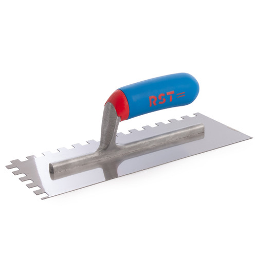 Buy RST RTR6260S Notched Trowel With Soft Touch Handle 11 x 4 1/2in 10mm Notch at Toolstop
