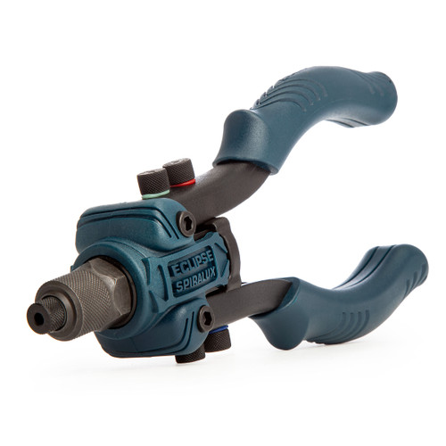 Eclipse 2760C-M Spiralux Compact Mini Lever Arm Riveter with 5 Noses (2.4 - 6.4mm) - 4