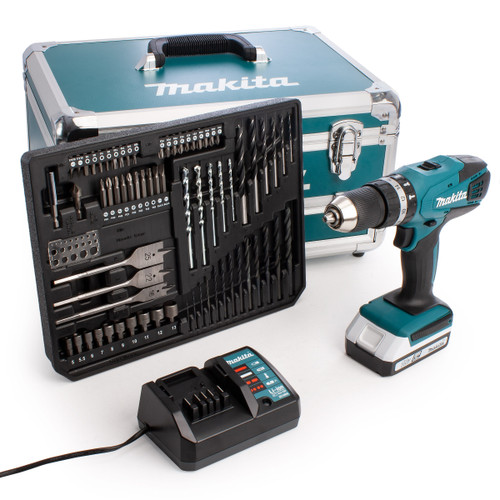 Makita HP457DWX4 18V G-Series Combi Drill (1 x 1.5Ah Battery) with 70 Accessories  - 5