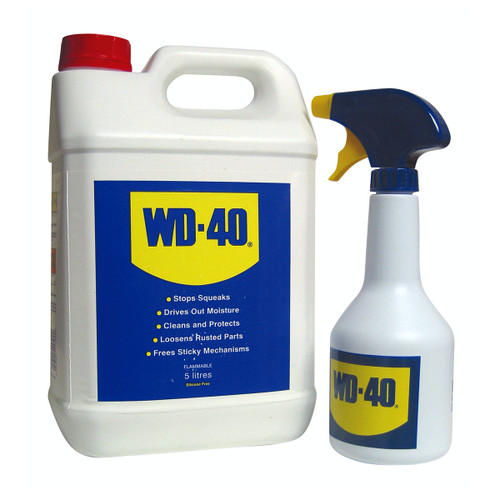 Buy WD-40 Multi-Use Lubricant (44506) 5 Litres & Spray Applicator for GBP20.83 at Toolstop
