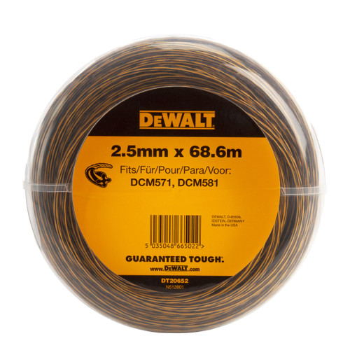 Dewalt DT20652 String Trimmer Line 2.5mm x 68.6m - 1