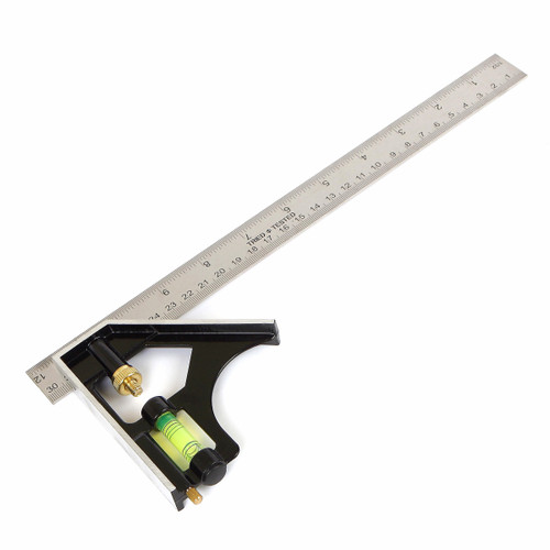 Buy Tried + Tested TT047 Metal Combination Square with Level 300mm for GBP2.5 at Toolstop