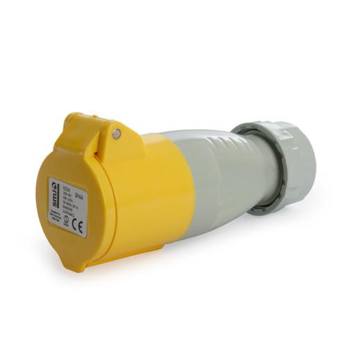 SMJ 110V16ACL 16 Amp Yellow Socket Coupler 110V - 2