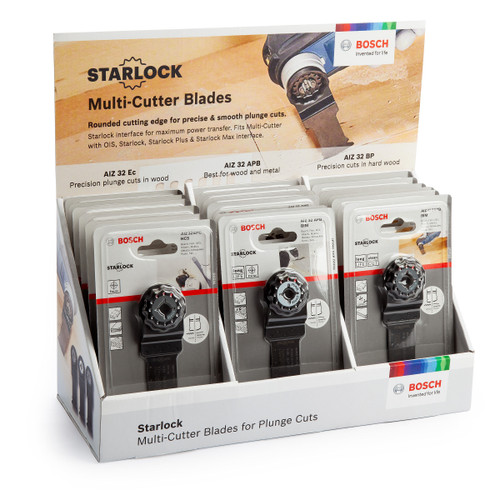Bosch 06159975K6 Starlock Multi-Tool Blades Mixed (18 Piece) - 6