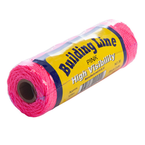 Buy Tayler 00412 Building Line High Stretch Nylon in Pink 105 Metres at Toolstop