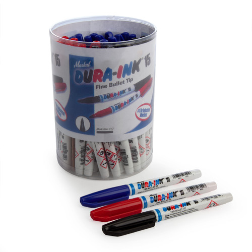 Markal 96070 Dura-Ink 15 Fine Bullet Tip Colourful Industrial Markers In Display (Pack Of 48) - 2